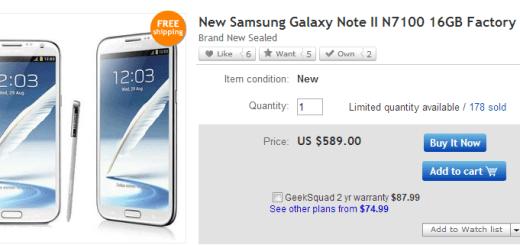 Note 2 Ebay