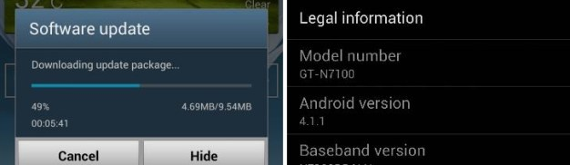 Samsung Galaxy Note 2 OTA Update India