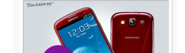 Samsung Galaxy S3 UK Deal