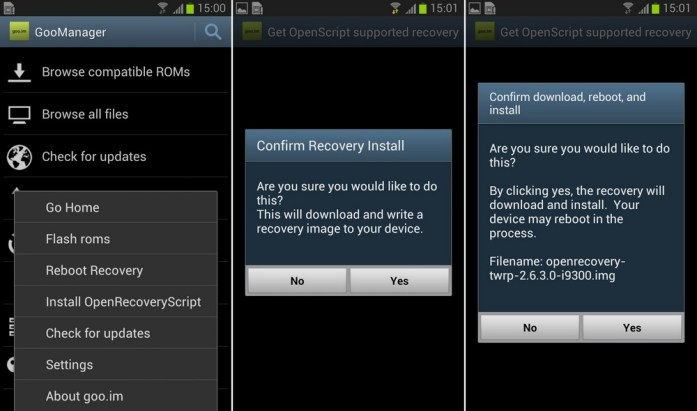 Goomanager TWRP Installation