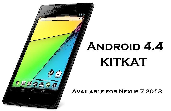 Android 4.4 KitKat Nexus 7 2013