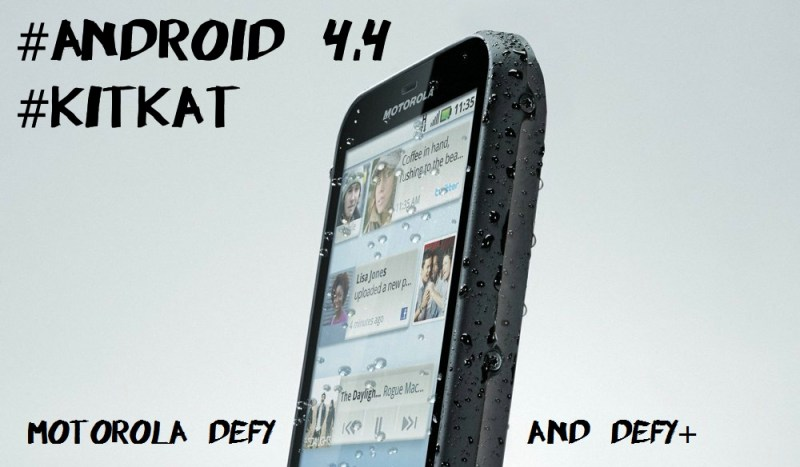 Android 4.4 KitKat for Motorola Defy and Defy+