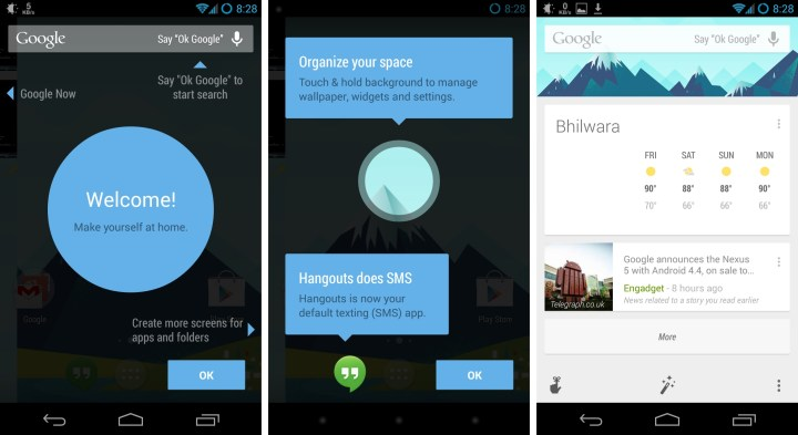 New Google Home Android 4.4 Launcher