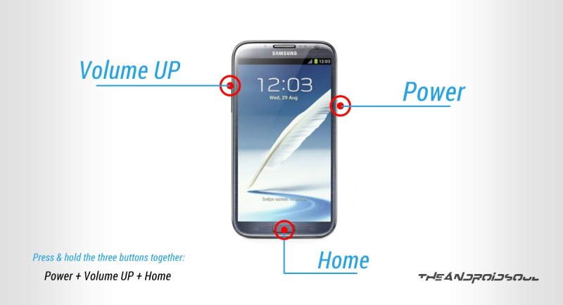 Galaxy NOTE 2 Recovery Mode