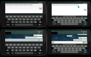 AOSP and Swiftkey in landscape
