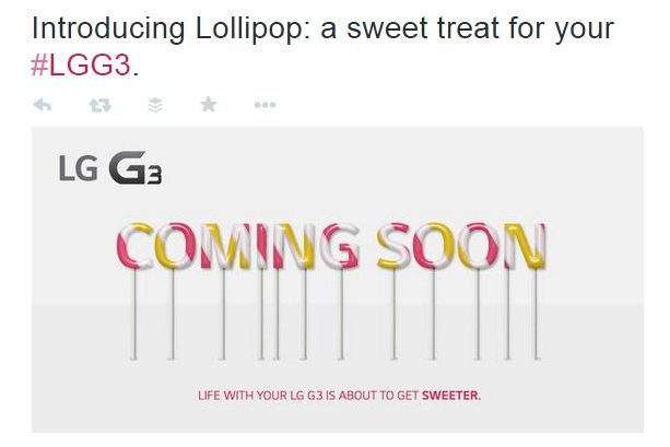 LG G3 Lollipop Update US