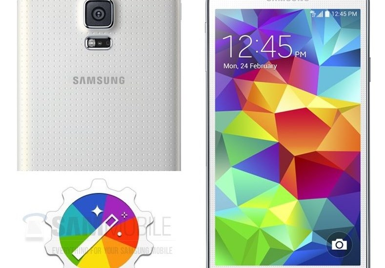 Samsung Galaxy S5 with Themes