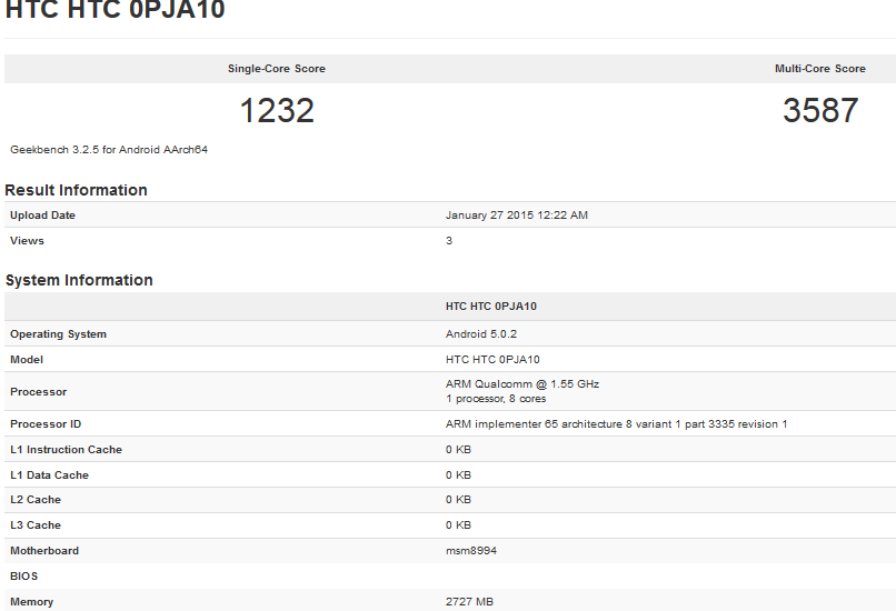 htc one specs confirm benchmark