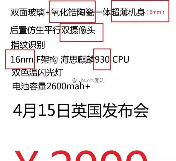 Huawei P8 Specs