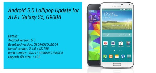 AT&T Galaxy S5 Androd 5.0 Lollipop Update Details