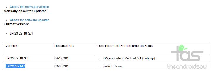 Sprint Moto E Android 5.1 OTA Update
