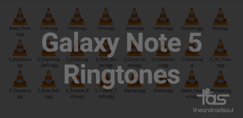 Galaxy Note 5 ringtones