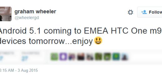 HTC One M9 Andorid 5.1.1 Update EMEA countries