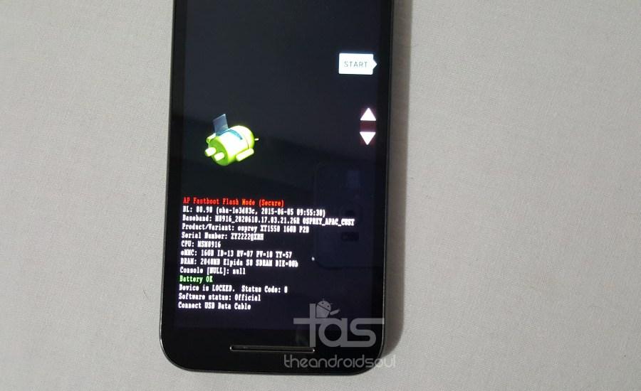 Moto G 3rd Gen Bootloader mode