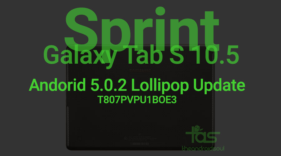 Sprint Galaxy Tab S 10.5