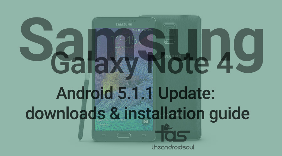T-Mobile Galaxy Note 4 5.1.1. Update
