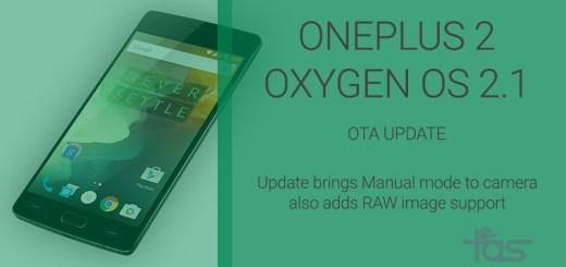 OnePlus 2 Oxygen OS 2.1 OTA Update