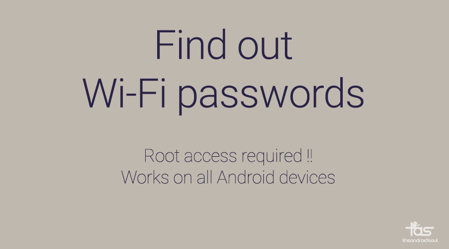 find wifi password android phone and tablet