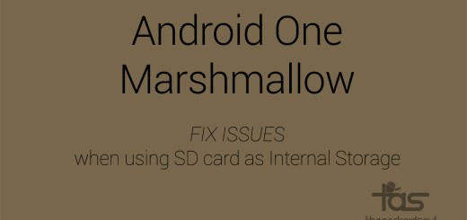 Android One Marshmallow issues SD card