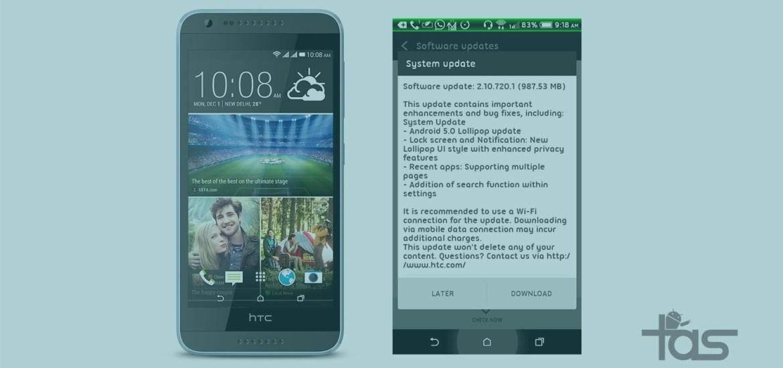 HTC Desire 820 dual-SIM Lollipop update OTA