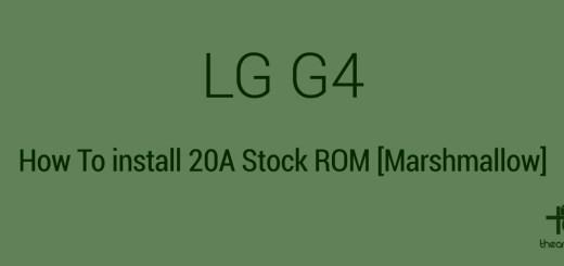 LG G4 Stock ROM Marshmallow
