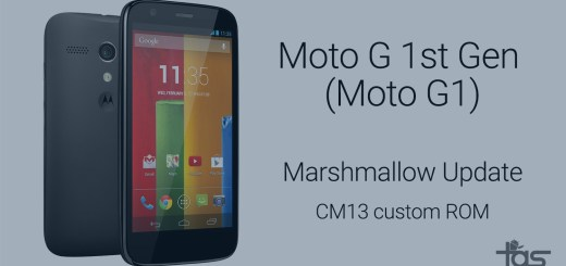 Moto G Marshmallow update CM13 ROM