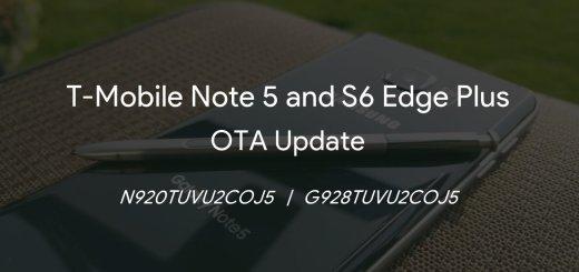 T-Mobile Note 5 and S6 Edge Plus COJ5 Update