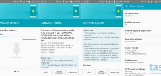 Sprint Note 4 PE1 update