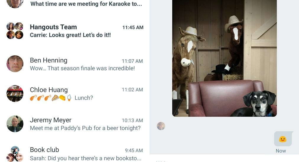 hangouts v10 update