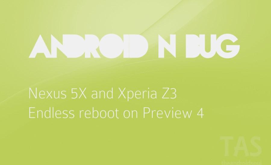 nexus 5x preview 4 bug