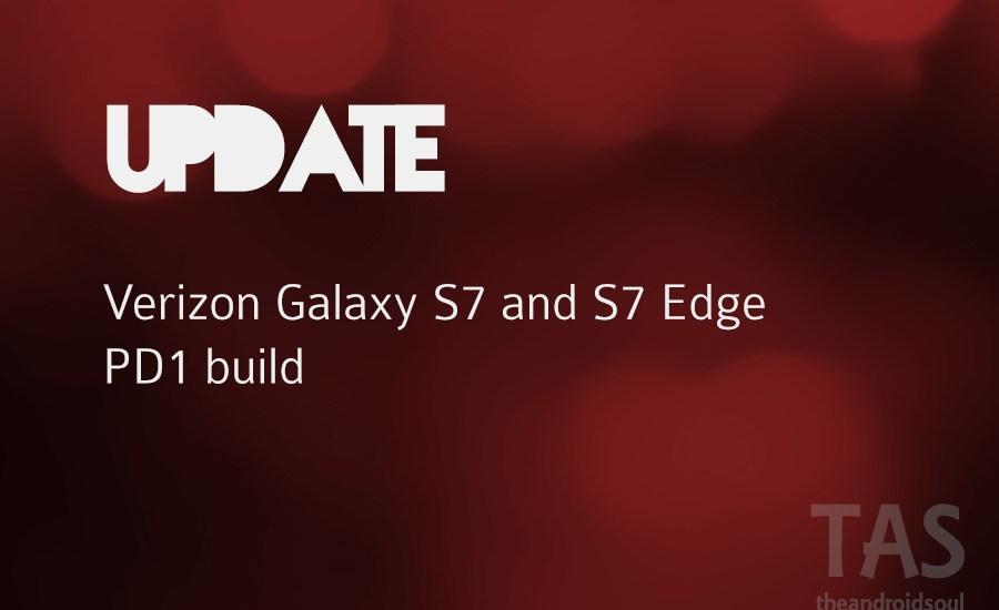 verizon galaxy s7 pd1 update
