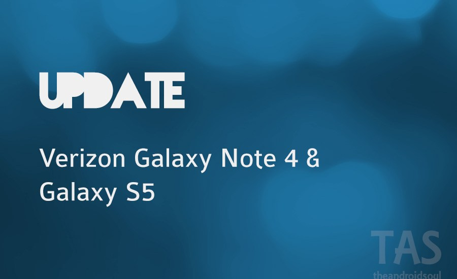 verizon note 4 s5 update
