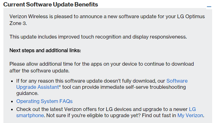 verizon zone 3 update