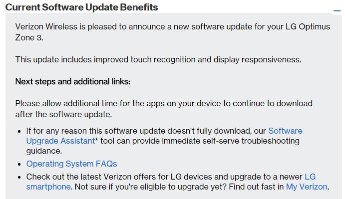 verizon zone 3 update