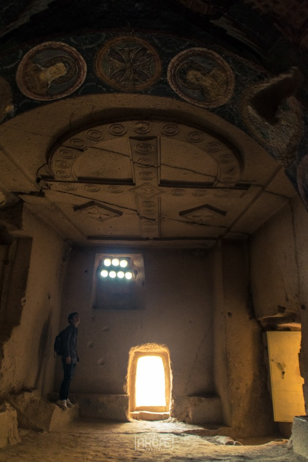 Inside one of the Cave Churches