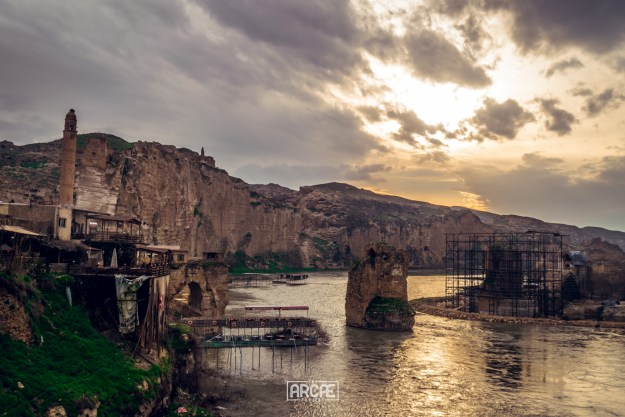 Hasankeyf during sunset