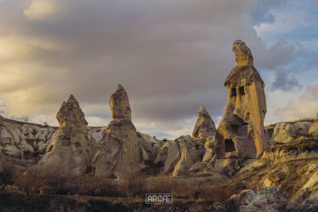 Fairy Chimneys offer great cover during rainy days