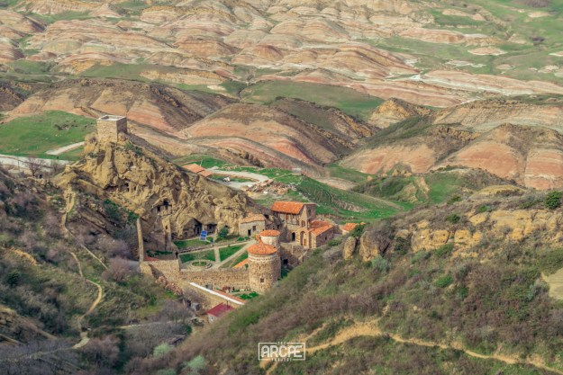 David Gareji Monastery seen from the top of the hill