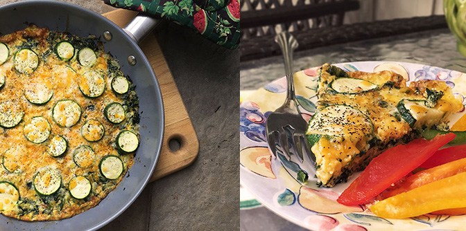 Summer Veggie Frittata + Time to Relax.