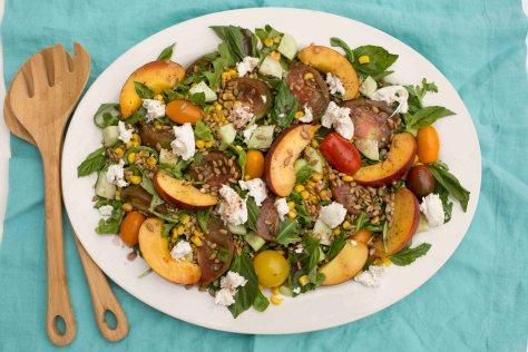 Heirloom Tomato, Peach & Mozzarella Salad