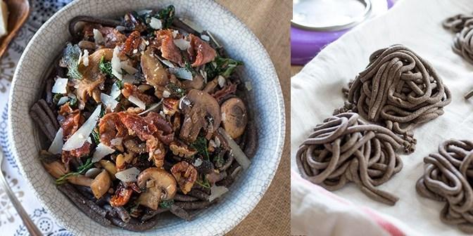 Celebrating Fall Flavors: Buckwheat Bucatini w/ Truffled Wild Mushroom Sauce