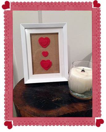 Hearts On Frame