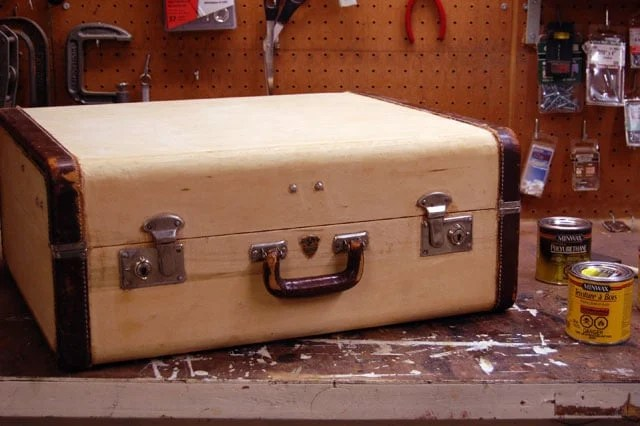 Old Suitcase Stripped Of Fabric