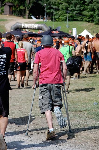 Tough Mudder Crutches