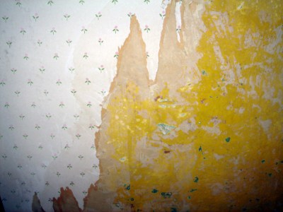 Renovation - Wallpaper Removal - Drywall Mud Used as Spackle | The Artsy Crafter