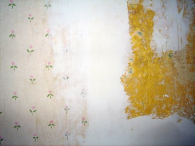 Renovation - Wallpaper Removal - Drywall Mud Used as Spackle | The Artsy Crafter