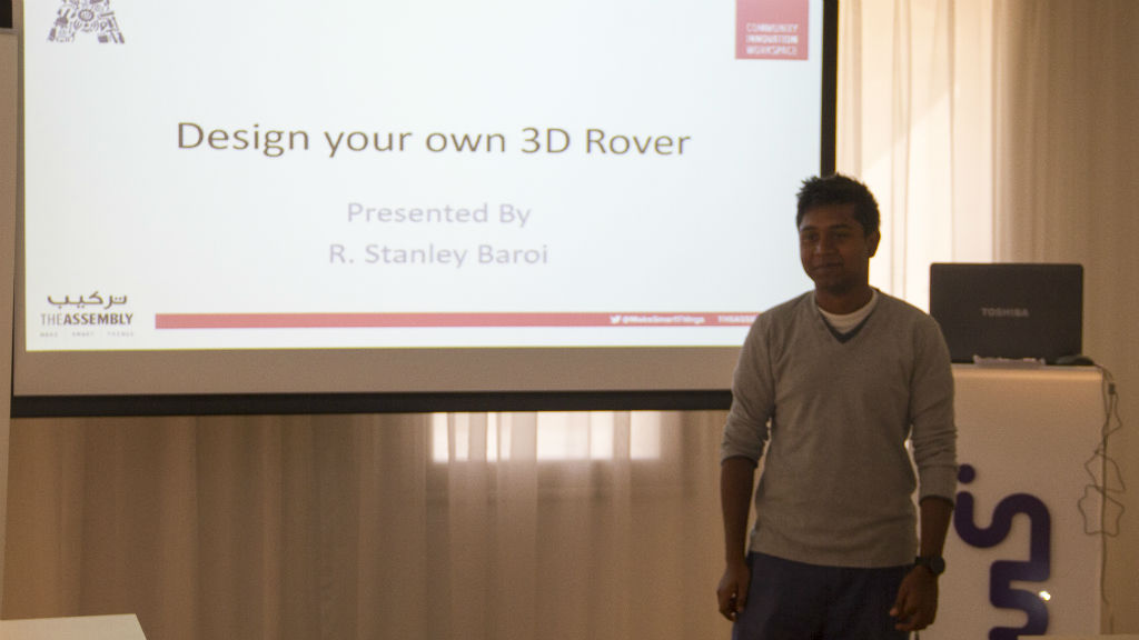 Workshop – Design your Own 3D Rover – May 21, 2016