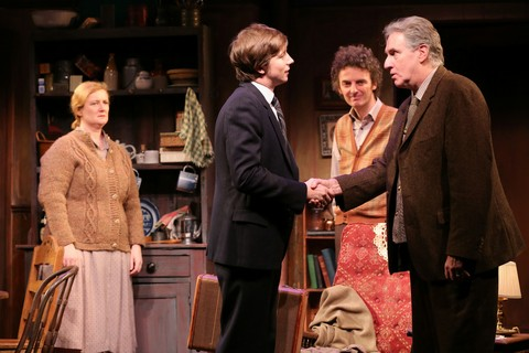 "Fiana Toibin, Adam Petherbridge, John Keating and Paul O'Brien in a scene from Hugh Leonard's ""Da"" (Photo credit: Carol Rosegg)"