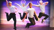 "Joel Libed, Joel Chambers, Kyle DuPree and Dan Coombs in a scene from the musical ""Fabulous!""  (Photo credit: Steven Bidwell)"