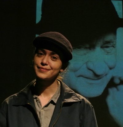 """Lillian Rodriquez as Jonas Mekas in """"That's How Angels Arranged,"""" one of the play included in """"The Indelible,"""" part of Metropolitan Playhouse's 11th Annual East Side Stories"""